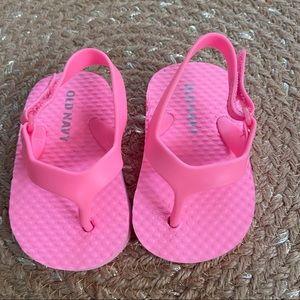 5/$20 Old Navy Pink Infant flip flops
